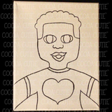 "Cocoa Cutie ""Be My Valentine"" Canvas/Paint Kit-BOY"