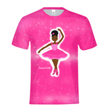 PINK DANCER IN THE STARS YANNA COCOA CUTIE Kids Performance Tee