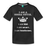 I Am A Cocoa Cutie Toddler Cotton Premium T-Shirt(Prince) - black
