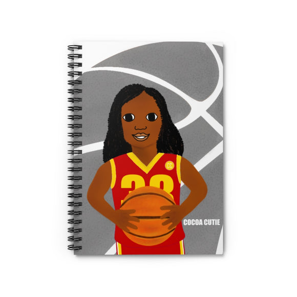 Basketball London RED Cocoa Cutie Spiral Notebook - Ruled Line