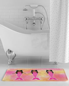 Pink Mermaid Cocoa Cutie Bath Mat