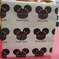Pink Bows and Afro Puffs Gift Wrap Sheets