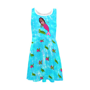 "Be A Mermaid ""Jordyn"" and Friend Cocoa Cutie Girl's Sleeveless Sundress"