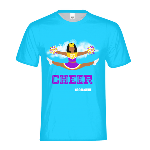 Cheerleader Jordyn/Medium Dark Skin- PURPLE Kids Performance Tee