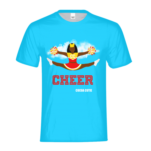 Cheerleader Yanna/Dark Skin- RED Kids Performance Tee