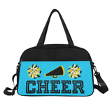 Black Cheerleader Cheer Competition Practice Duffel Bag Black/Yellow