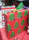 READY SHIP Christmas Tree Boy Gift Wrap-3 Sheet Pack