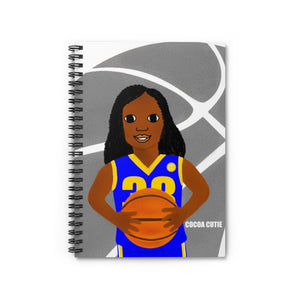 Basketball London BLUE Cocoa Cutie Spiral Notebook - Ruled Line
