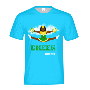 Cheerleader Yanna/Dark Skin- GREEN Kids Performance Tee