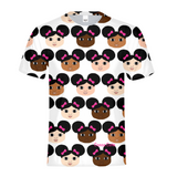 AFRO PUFFS AND PINK BOWS COCOA CUTIES Kids Performance Tee