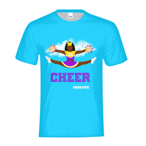 Cheerleader Yanna/Dark Skin- PURPLE Kids Performance Tee