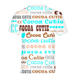 I HEART COCOA CUTIE-TEAL Kids Performance Tee