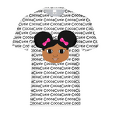 AFRO PUFFS AND PINK BOWS JORDYN COCOA CUTIE Kids Performance Tee