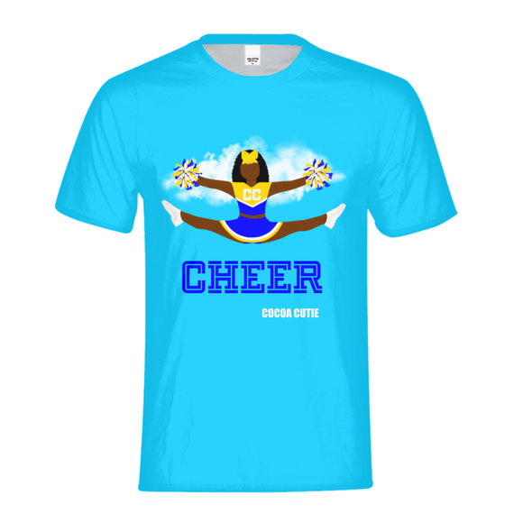 Cheerleader Yanna/Dark Skin- BLUE Kids Performance Tee