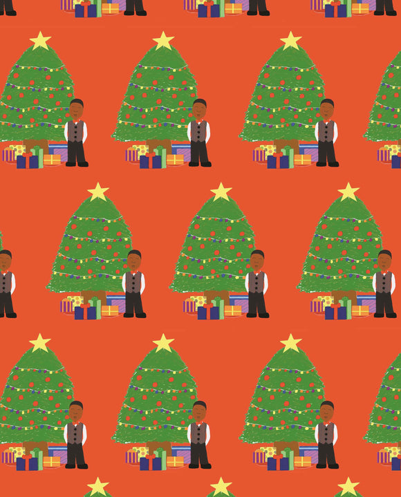 Christmas Tree Boy Gift Wrap-3 Sheet Pack