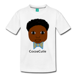 Bow Tie (Jayden) Cocoa Cutie Toddler Cotton Premium T-Shirt - white