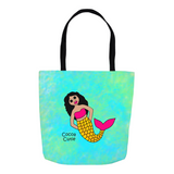 Be A Mermaid Kiara Cocoa Cutie Tote Bags