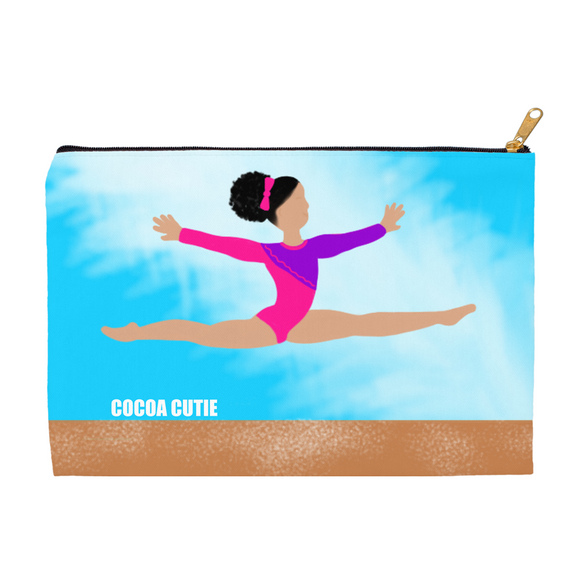 Gymnast Kiara Carry-All Accessory Pouch Cosmetic Bag(Two Sizes)