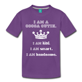 I Am A Cocoa Cutie Toddler Cotton Premium T-Shirt(Prince) - purple
