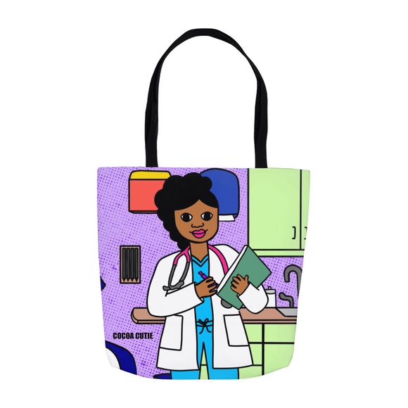 Medical Professional Doctor/Nurse Cocoa Cutie Jordyn Shoulder Tote Bags
