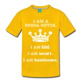 I Am A Cocoa Cutie Kid's Cotton Premium Tee(Prince) - sun yellow