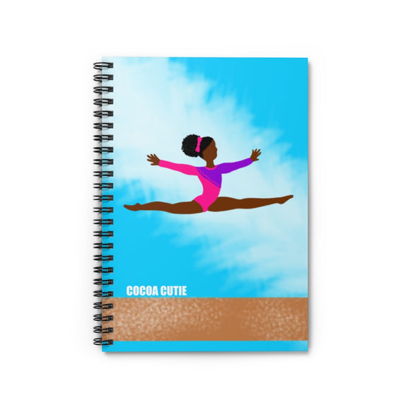 Gymnast Yanna Cocoa Cutie Spiral Notebook - Ruled Line