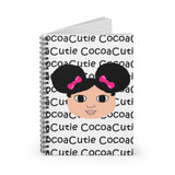 Afro Puffs and Pink Bows Kiara Cocoa Cutie Spiral Notebook - Ruled Line