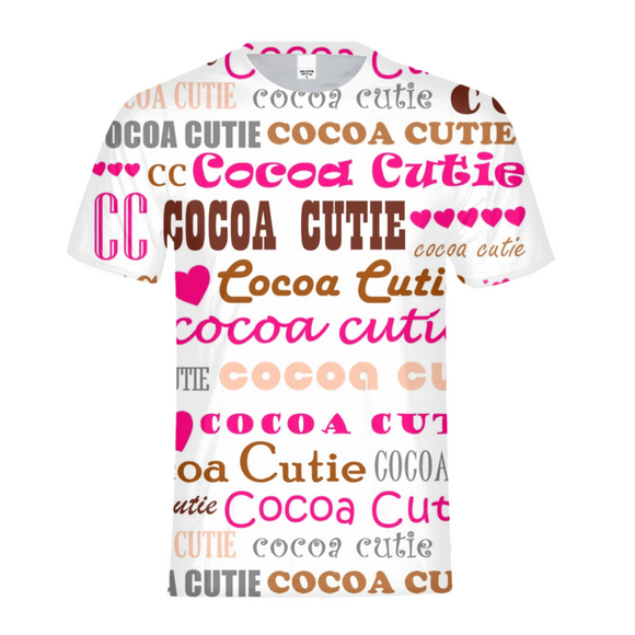 I HEART COCOA CUTIE-PINK Kids Performance Tee