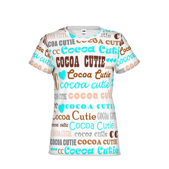 I HEART COCOA CUTIE-TEAL Women's Performance Tee