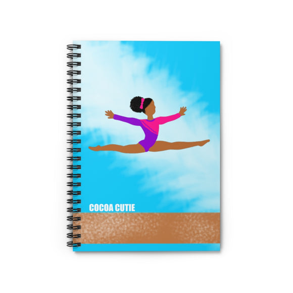 Gymnast Jordyn Cocoa Cutie Spiral Notebook - Ruled Line