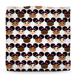 Cocoa Cuties Ottomans(Two Sizes)-Afro Puffs