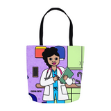"Medical Professional Doctor/Nurse Cocoa Cutie ""Kiara"" Shoulder Tote Bags"