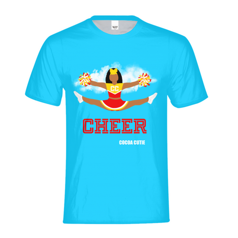 Cheerleader Jordyn/Medium Dark Skin- RED Kids PerformanceTee