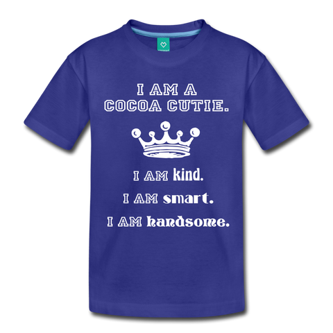 I Am A Cocoa Cutie Toddler Cotton Premium T-Shirt(Prince) - royal blue