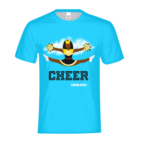 Cheerleader Yanna/Dark Skin- BLACK Kids Performance Tee