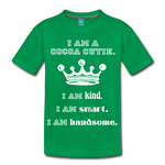 I Am A Cocoa Cutie Kid's Cotton Premium Tee(Prince) - kelly green