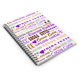 I Heart Cocoa Cutie PURPLE Spiral Notebook - Ruled Line