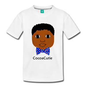 Bow Tie (Bryston) Cocoa Cutie Toddler Cotton Premium T-Shirt - white