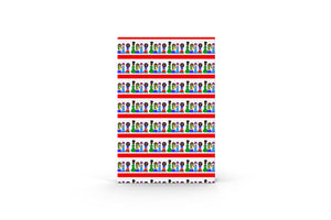 Christmas Carolers Gift Wrap-3 Sheet Pack