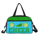 Black Cheerleader Cheer Competition Practice Duffel Bag Green/Yellow