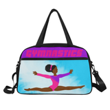 Gymnast Practice Fitness Travel Bags with Separate Shoe Compartment(Two Skin Tones)