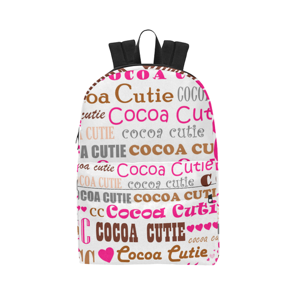 QUICK SHIP-GIRLS I LOVE COCOA CUTIE LARGE CAPACITY CANVAS BACKPACK(PINK or TEAL)