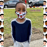 READY SHIP-Cocoa Cuties(All Skin Tones) Boys Face Mask-Individual