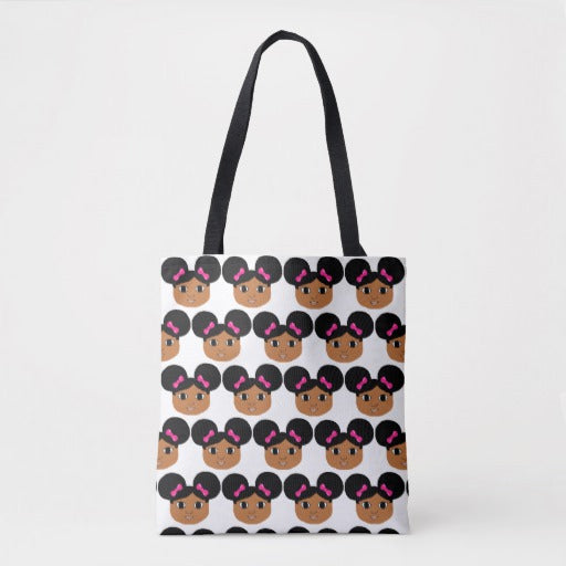 READY SHIP Special Edition CLOSEOUT Cocoa Cutie Afro Puffs Tote Bags 16in.