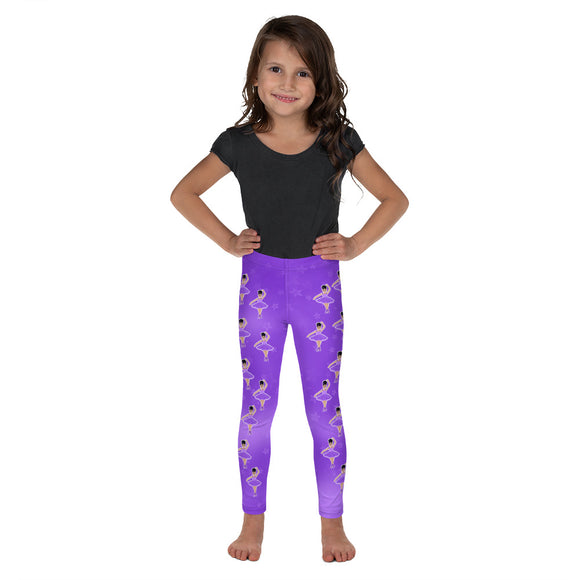 Purple Dancer Kiara Cocoa Cutie Kid's Leggings
