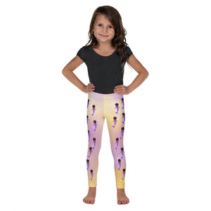 Purple Mermaid Yanna Cocoa Cutie Kid's Leggings