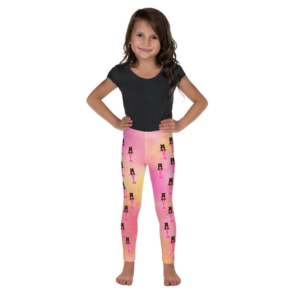 Pink Mermaid Yanna Cocoa Cutie Kid's Leggings