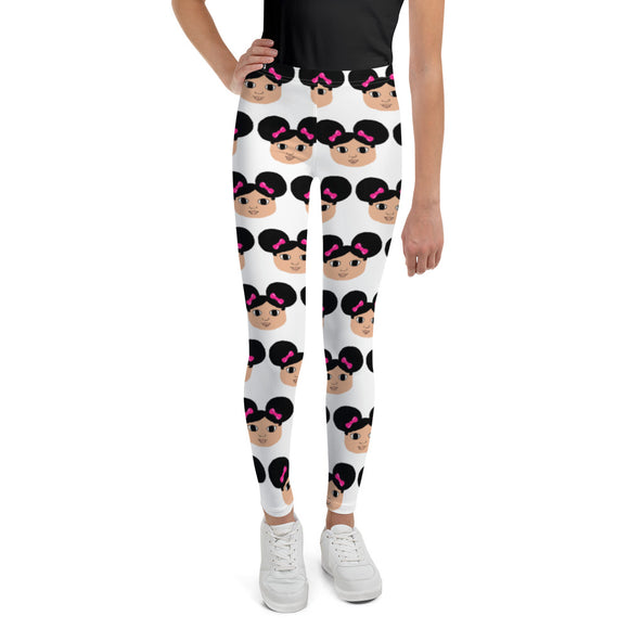 Afro Puffs Kiara Cocoa Cutie Youth Leggings