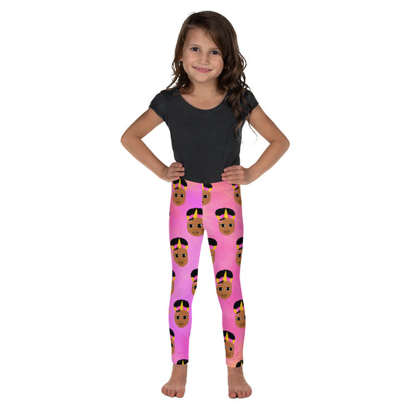 Unicorn Jordyn Kid's Leggings Cocoa Cutie