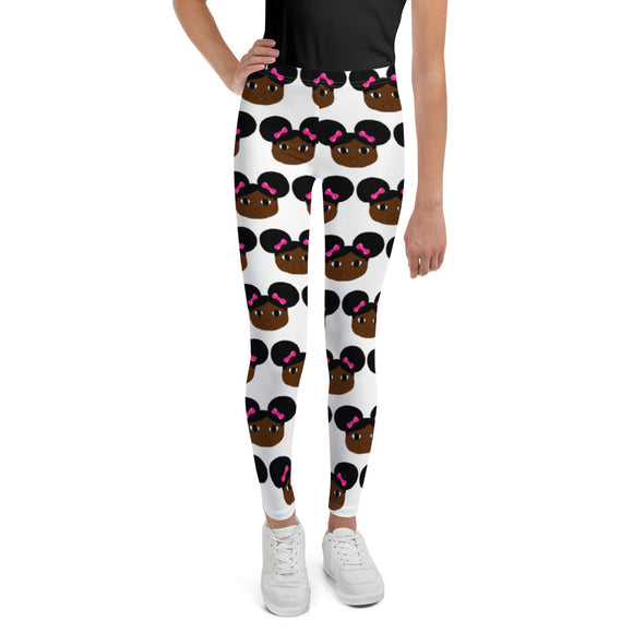 Afro Puffs Yanna Cocoa Cutie Youth Leggings